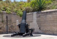 Fort de Soto, Florida. 19th Century Mortar at Fort De Soto, Florida, United States Stock Photo