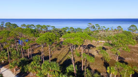 Fort De Soto Park in Florida, aerial view Stock Photo