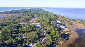 Fort De Soto Park in Florida, aerial view Stock Photos