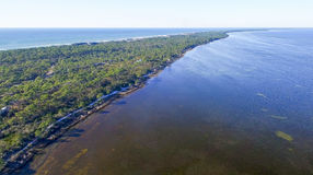 Fort De Soto Park in Florida, aerial view Royalty Free Stock Image