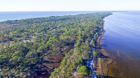 Fort De Soto Park in Florida, aerial view Stock Images
