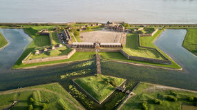 Fort de Tilbury, Essex, Angleterre ; bourdon aérien Photos stock