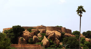 Fort de Tirumayam Photo stock