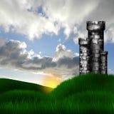 Fort in de weide Royalty-vrije Stock Afbeelding