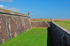 Fort Defences. A view across the inner defences of Fort George that was built in 1748 to defend the Moray Firth in Scotland after the defeat of the last Jacobite Stock Photos