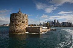 Fort Denison in Sydney Stockbilder