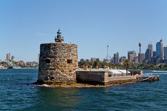 Fort Denison. SYDNEY,AUSTRALIA - OCTOBER 19,2014: Fort Denison in Sydney Harbour. A prison and place of execution in convict times, it now has a restaurant and Royalty Free Stock Photo