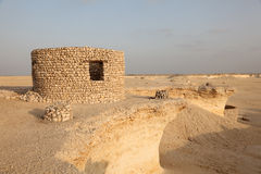 Fort in the desert of Qatar. Middle East Royalty Free Stock Photography