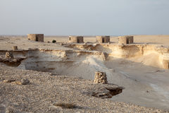 Fort in the desert of Qatar Stock Photography