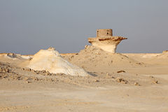 Fort in the desert of Qatar Stock Images