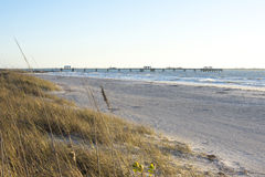 Fort Desoto gulf fishing pier and beach Royalty Free Stock Images