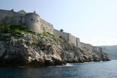 Fort in Dubrovnik. Old fort in Dubrovnik. (Croatia Royalty Free Stock Photo