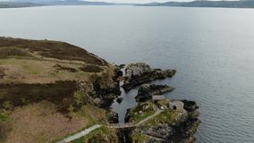 Fort Dunree at Dunree Head in Ireland. Travel photography stock video