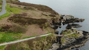 Fort Dunree at Dunree Head in Ireland. Travel photography stock video footage