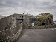 Fort Dunree at the Irish west coast. Travel photography stock photo