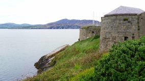 Fort Dunree at the Irish west coast. Travel photography stock video
