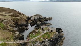 Fort Dunree an Dunree-Kopf in Irland stock video