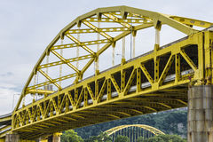 Fort Duquesne Bridge Over Alleghey River Pittsburgh Stock Photo