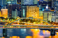 Fort Duquesne Bridge. Spans Allegheny river in Pittsburgh, Pennsylvania Stock Photos
