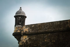 Fort El Morro - Puerto Rico. Guerite at Fort El Morro (Castillo San Felipe del Morro) in San Juan, Puerto Rico Royalty Free Stock Photos