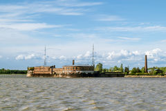 Fort emperor Peter the first in Kronstadt in the Finskiy Gulf . Royalty Free Stock Photos