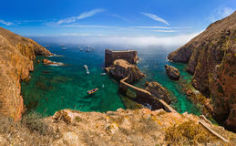Fort en île de Berlenga - Portugal photos libres de droits