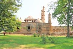 Fort en torens in Pavagadh; De archeologische Erfenis van de Parkwereld Stock Afbeelding