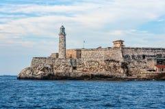 Fort et phare à vieille La Havane, Cuba Image stock