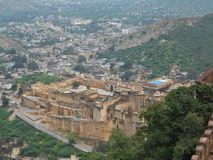 Fort. Fascinating views of Amber fort Jaipur Royalty Free Stock Photo