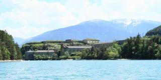 Fort Festung Fortezza Franzensfeste Stockfotografie