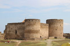 Fort fortified area. Belgorod Dniester blue sky defense Stock Images