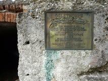 Fort Frederica Georgia Plaque Citadel Remains stockfotografie