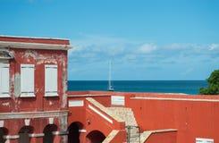 Fort Frederik - St. Croix-U.S. Virgin Islands. Fort Frederik - St. Croix - Museum grounds. The fort was named after Frederick V of Denmark. From the upper level Stock Image