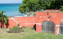 Fort Frederik - St. Croix-U.S. Virgin Islands. Fort Frederik - St. Croix - Museum grounds. The fort was named after Frederick V of Denmark. From the upper level Stock Photography