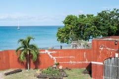 Fort Frederik - St. Croix-U.S. Virgin Islands. Fort Frederik - St. Croix - Museum grounds. The fort was named after Frederick V of Denmark. From the upper level Royalty Free Stock Photography