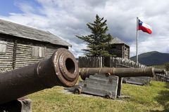 Fort Fuerte Bulnes in Chile Stockbild
