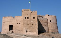Fort of fujairah in uae Royalty Free Stock Image