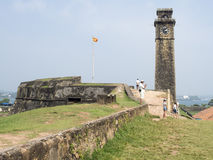 The fort in Galle. Detail of the fort of Galle. Galle is a major city in Sri Lanka, situated 119 km from Colombo.  The Galle fort is a world heritage site and is Royalty Free Stock Images