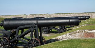 fort george cannons Royalty Free Stock Photos