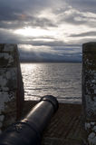 Fort George Canon overlooking the Beauley Firth Royalty Free Stock Photo