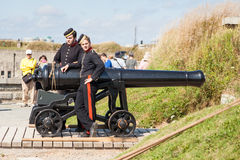 Fort George Canon and Soldiers Royalty Free Stock Photo