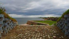 """Fort George, Inverness, het Verenigd Koninkrijk †""""20 augustus 2017: De observatie richt op het Fort George Sea stock footage"""