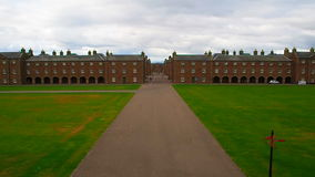 Fort George, Inverness, United Kingdom – 20 august 2017: Main Avenue and official accommodations in Fort George stock video