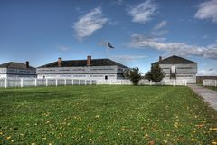 Fort George National Historic Site stock afbeelding