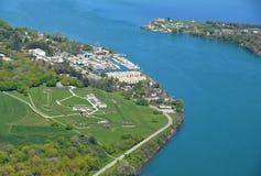Fort George, Niagara op het Meer Stock Fotografie