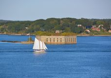 Fort Gorges on Hog Island Stock Photos