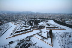 Fort Goryokaku, Hokkaido Image libre de droits
