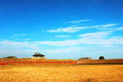 Fort on the grassland Stock Images