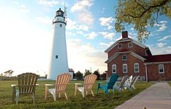 Fort Gratiot Lighthouse Stock Photo