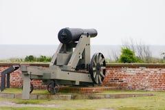 Fort Gun. Gun at Civil War Fort stock photos